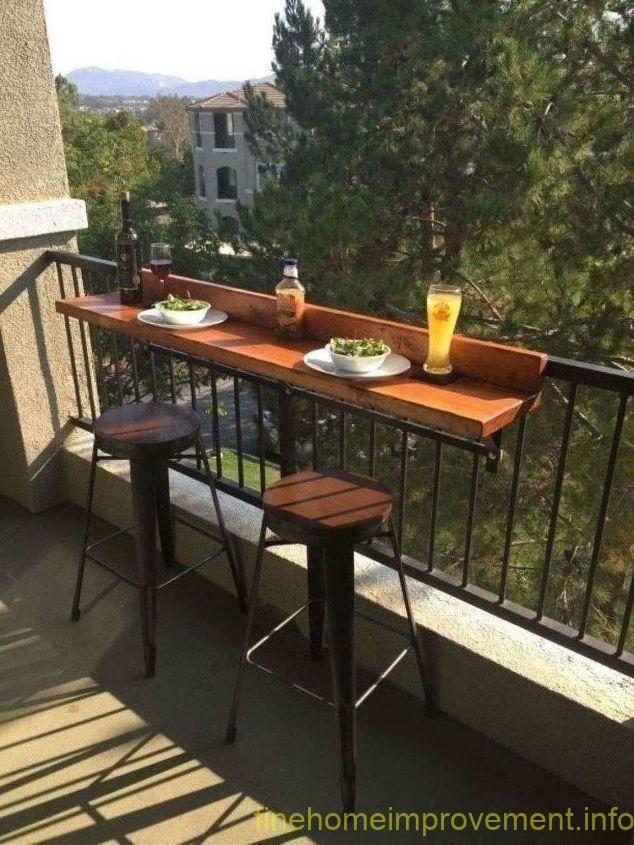 Diy Balcony Bar Top Diseño De Balcón Balcón Del Apartamento De Decoración Muebles Para Balcon