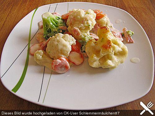 Brokkoli - Blumenkohl Gratin, ein sehr schönes Rezept aus der Kategorie Gemüse. Bewertungen: 158. Durchschnitt: Ø 4,4.