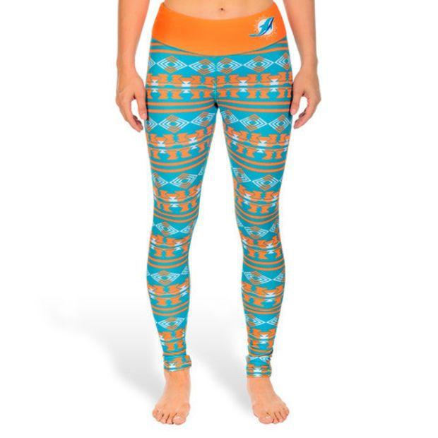 Miami Dolphins Women's Aztec Print Leggings