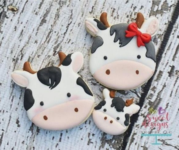"Judit Reding on Instagram: ""Cow cookie #designercookiecutters #cow #animals #farm"""