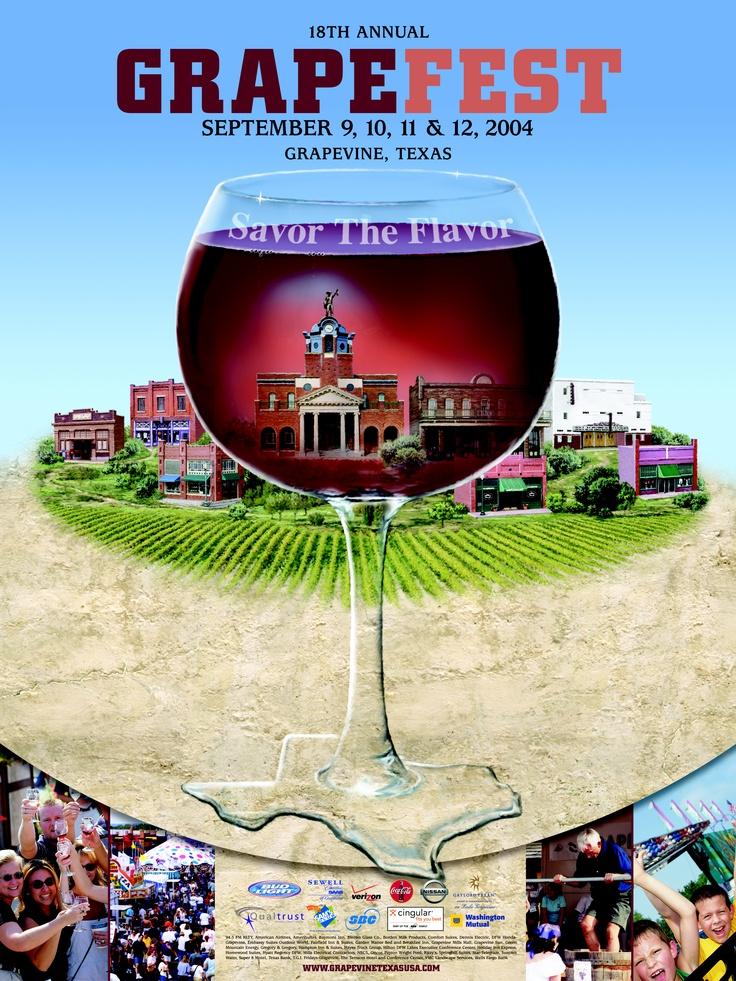 GrapeFest Festival Poster 2004 Festival posters