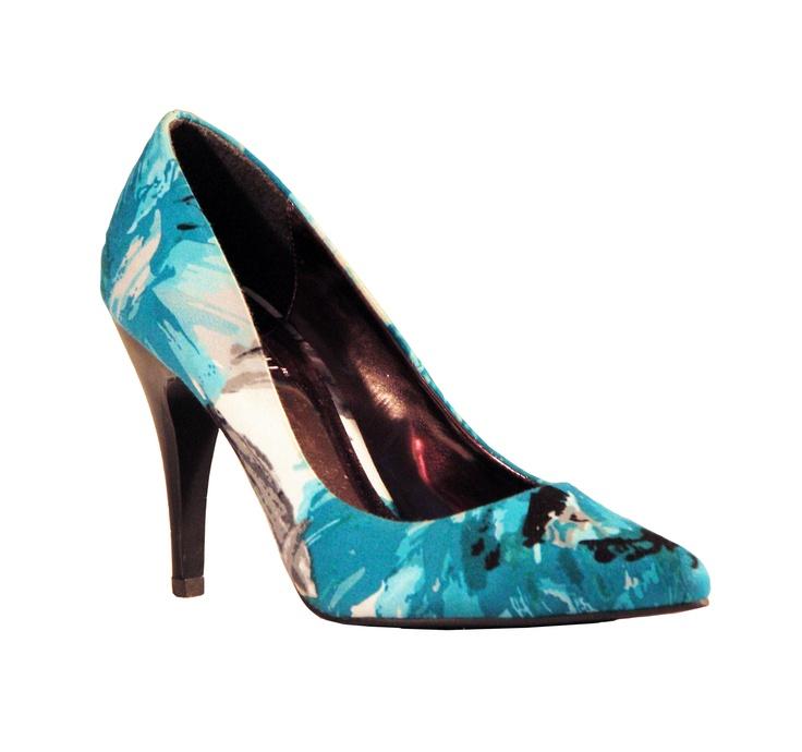 Madison's new fun and feminine Pammy floral print heels