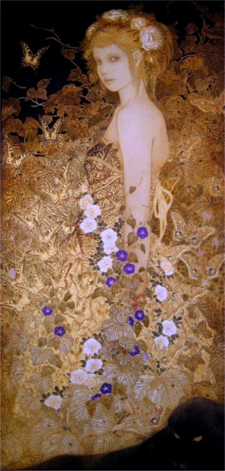 """Gustav Klimt ~ Click through the large version for a full-screen view (on a black background in Firefox), set your computer for full-screen. ~ Miks' Pics """"Artsy Fartsy Vl"""" board @ http://www.pinterest.com/msmgish/artsy-fartsy-vl/"""