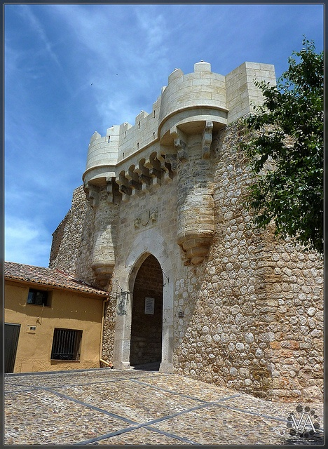 Santa Maria's Gate at Hita, a small village in La Alcarria (Guadalajara, Spain), a 15th century military gothic fortification