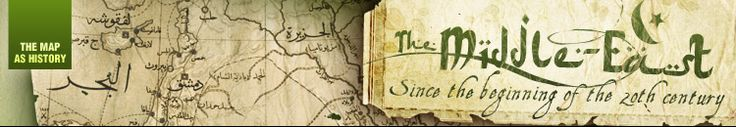 History of the Near and Middle East, Israel and Arab states - The Map as History