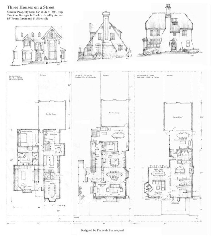 Three Houses On A Street By ~Built4ever On DeviantART. Architectural  PrintsHouse FloorHouse DesignFloor ...