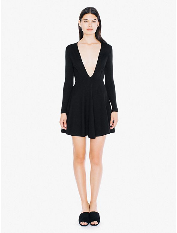 Low V Neck Ponte Skater Dress from American Apparel $68,00