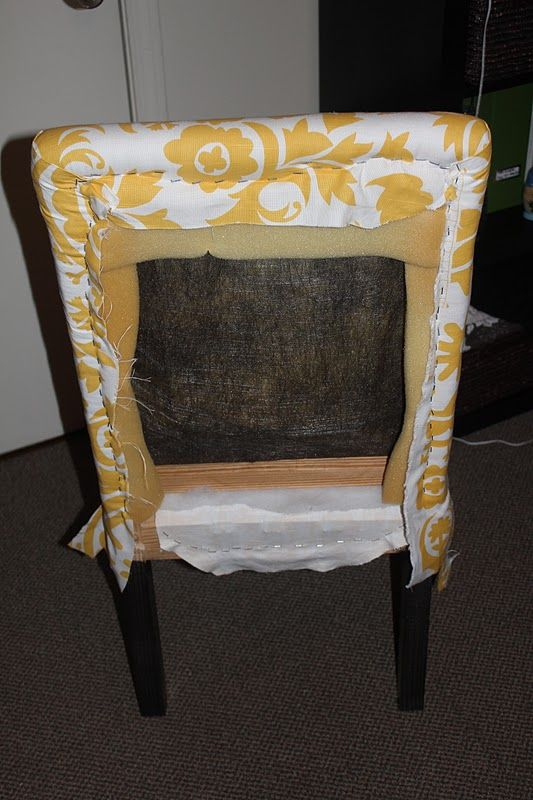 One Joyful Housewife Reupholstering Our Parsons Chairs Part Two