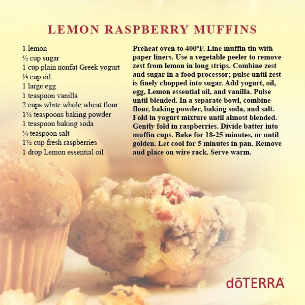 178 best doterra essential oils food recipes images on pinterest lemon raspberry muffins recipe with greek yogurt raspberry muffin yogurt find this pin and more on doterra essential oils food forumfinder Images