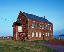 Learn about the Farmer's Bank at North Rustico, and behind it you can see Prince Edward Island National Park