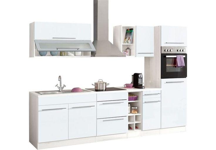 Küchenzeile, Held möbel, »Avignon«, ohne E-Geräte, Breite 290 cm