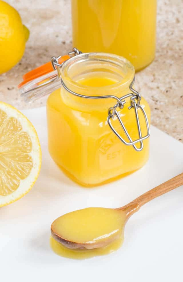 Homemade microwave lemon curd with gin is so easy to make, and fresh and zesty