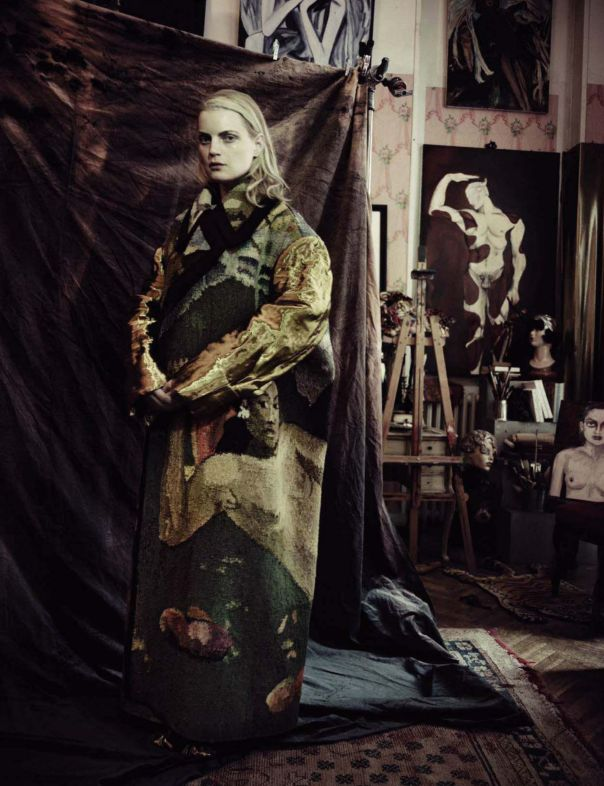 Guinevere Van Seenus by Paolo Roversi - Vogue Italia, March 2014.