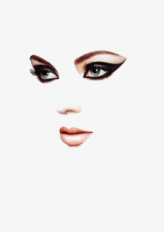 Makeup Woman Face In 2020 Makeup Clipart Woman Face Makeup
