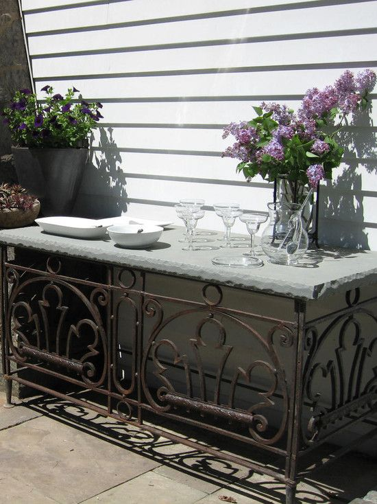 interesting buffet table decorating ideas eclectic patio buffet table