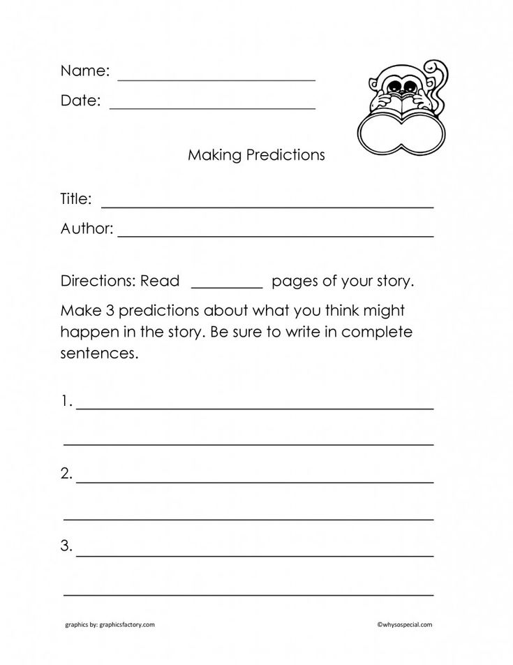 predicting outcomes worksheets Termolak – Prediction Worksheets