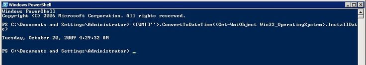 "Determine a Windows Server build date with these one-liners #build #a #cloud #server http://wisconsin.nef2.com/determine-a-windows-server-build-date-with-these-one-liners-build-a-cloud-server/  # Determine a Windows Server build date with these one-liners If you're asked, ""When was this server installed?"" you may have to get creative to determine the answer. Determining when a server was built can be tricky because administrators may have cleared out the event and system logs, or they may…"