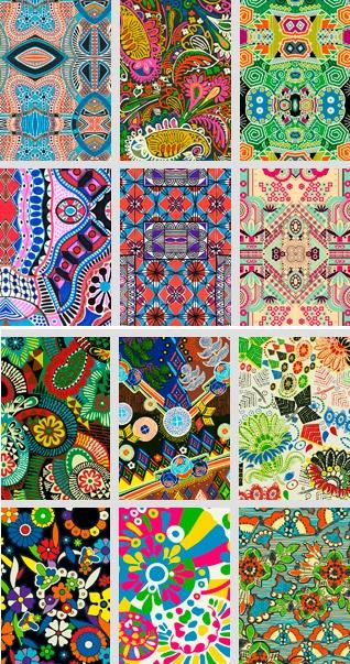 Textile patterns by Argentinian artist and designer Lucas Risé.