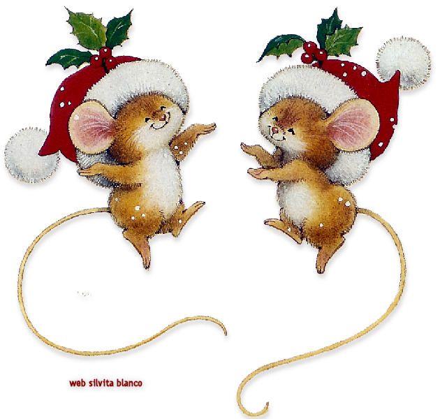 ratones en navidad bailando