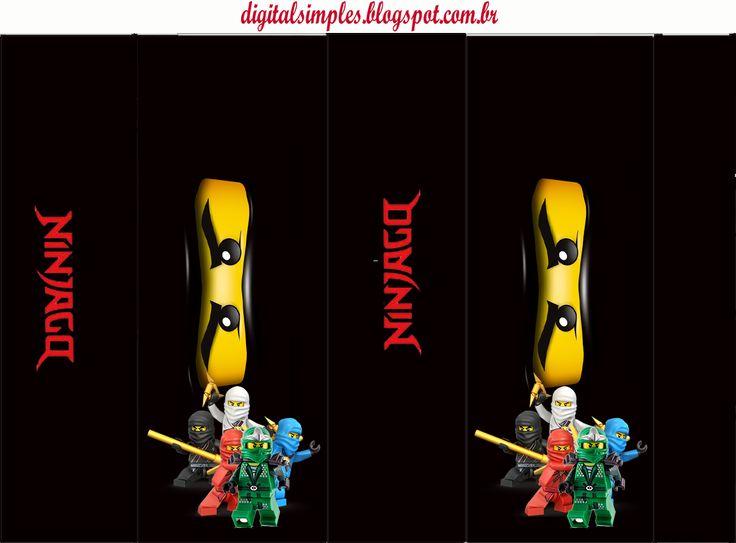 Kit para Fiesta de Ninjago para Imprimir Gratis.