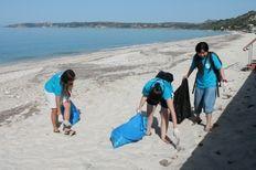 Beach cleaning Lourdas beach, Kefalonia   | check it out at wildlifesense.com