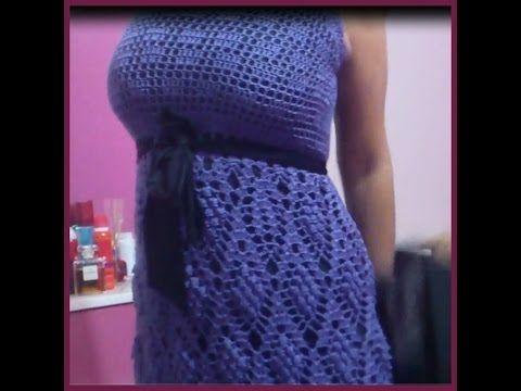 Grape Crochet Dress: Skirt PART 4 - YouTube