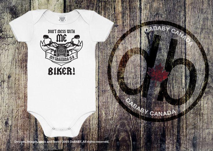 #etsy shop: Don't Mess With Me My Grandma Is A Biker Motorcycle Bodysuit, My Grandma is a Biker T-Shirt, Grandma Biker Toddler T-shirts Motorcycle Tees http://etsy.me/2FyYVcb #clothing #children #baby #babyshower #bikertshirt #keepsakebabygift #newbornbabygift #grandma