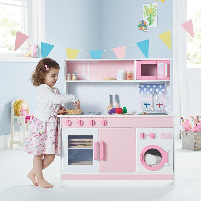 Pink Wooden Kitchen Toys Character George Pink Wooden
