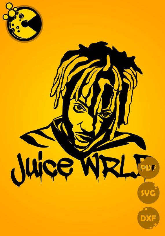 Juice Wrld The Listing Is For Digital Files Only Not A Physical Template Commercial License Products Rapper Art Art Drawings Beautiful Silhouette Art