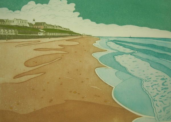 John Reginald Brunsdon: Southwold, Suffolk, England. Etching with Aquatint, 1981.