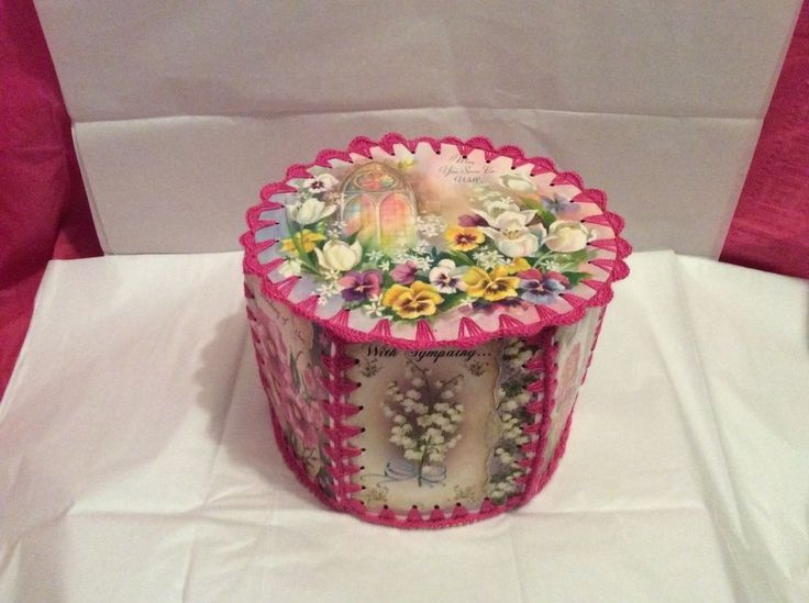 crochet greeting card box. Vintage greeting cards. new box