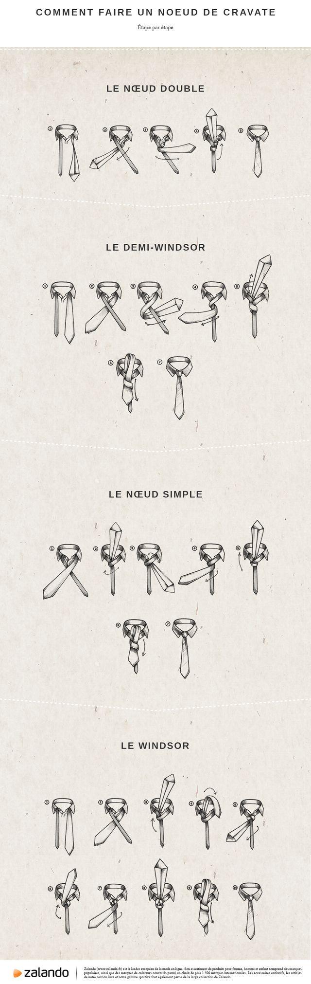 Comment faire un noeud de cravate                                                                                                                                                                                 Plus