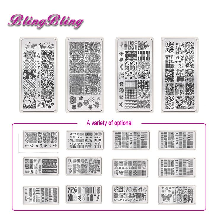 16 Styles Stamping Template Nail Stamping Plates Manicure Nail Stencil Image Plate Nail Stamp for DIY Gel Polish Nail Design