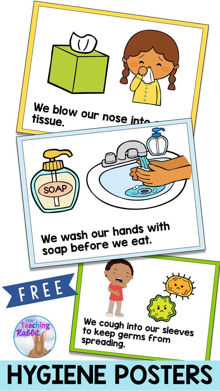 Hygiene Posters Preschool Learning Preschool Classroom Kindergarten Classroom