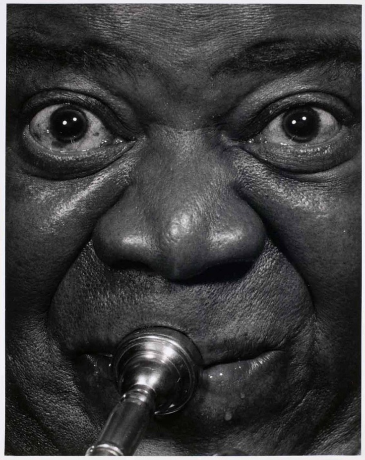Louis Armstrong, photographed by Philippe Halsman,1966