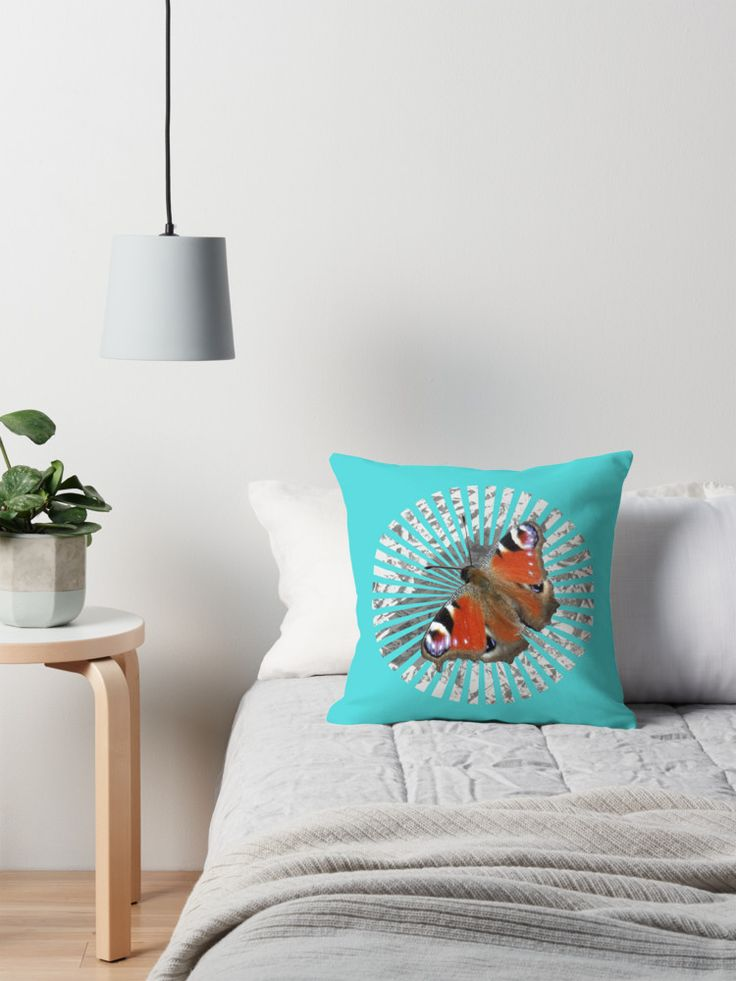 Aglais io, also known as the European 'Peacock butterfly' pillow design @redbubble   This butterfly photo was captured in southern Finland with added graphics for presentation. #redbubble #redbubblepillows #pillows #design #designerpillows #home #houseandhome #interiors #accessories #furnishings #summer #summerstyle #style #homestyle #houseinteriors #blue #white #calm #peaceful #mellowdesigns #nagohnala #designedinfinland #creation #comfy #elegant #livingroom #decoratingideas #homecollection