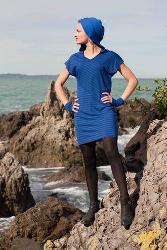 Vertical merino stripe tunic By www.chalkydigits.co.nz