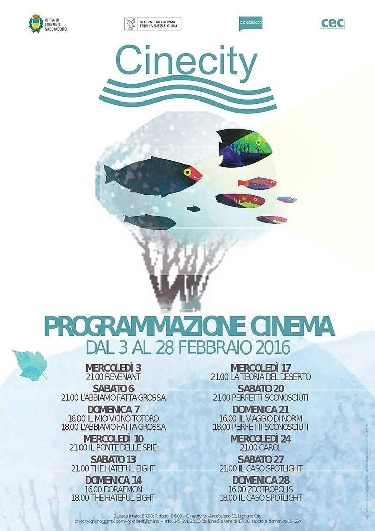 Programmazione cinecity 3-28 febbraio