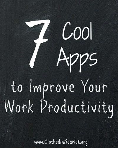 Here is a list of a few good #apps that will help you boost your productivity at work.
