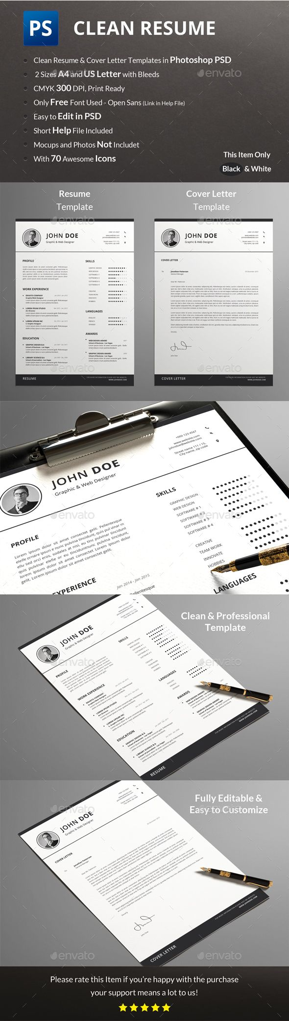 Resume Template PSD design Download httpgraphicrivernetitem 19