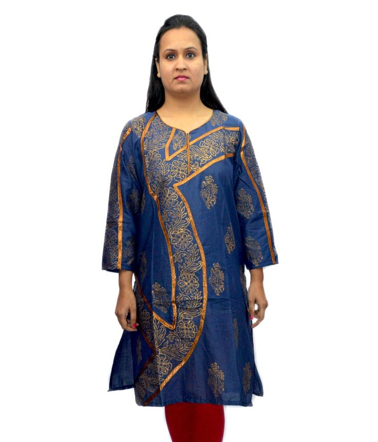 Loved it: Bpt Blue Cotton Printed Sweetheart Neck Kurti, http://www.snapdeal.com/product/bpt-blue-cotton-printed-sweetheart/1324067395