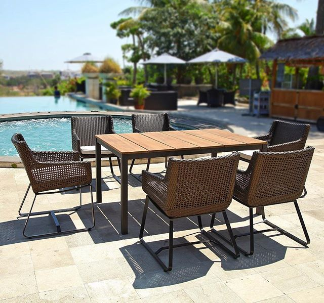 Chavannon Outdoor Dining Set With Black Frames Time To Style Up