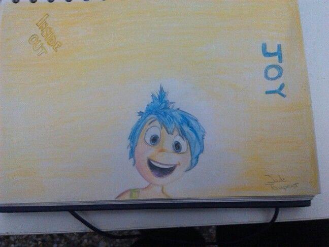 InsideOut - Joy. @pixarinsideout #worldofartists #insideout #joy #disneypixar #disney #drawbyme #draw #portrait #JadeTempest