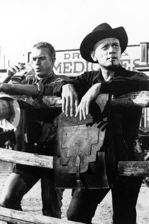 Steve McQueen and Yul Brynner in The Magnificent Seven 1960