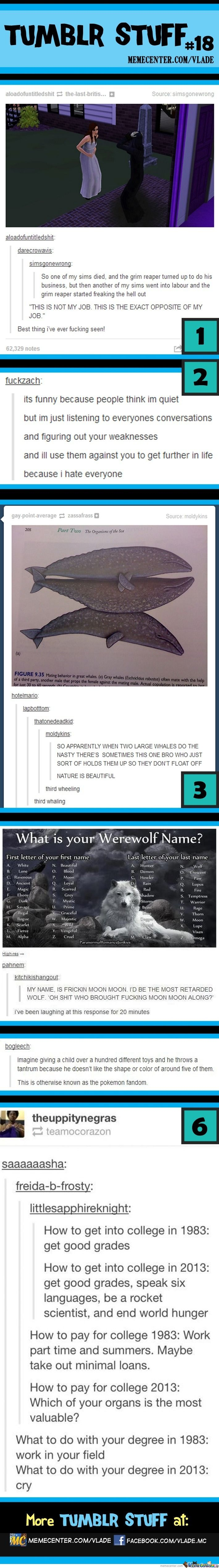 Tumblr Stuff #18....excuse the language, but this is too funny! I LOVE THE FIRST ONE IT HAS HAPPEN TO ME