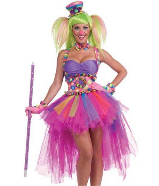 Nouveau Adulte Robes Halloween Fille De Clown De Clown Costumes Mascarade  Cosplay Costumes Adultes Cirque Vêtements