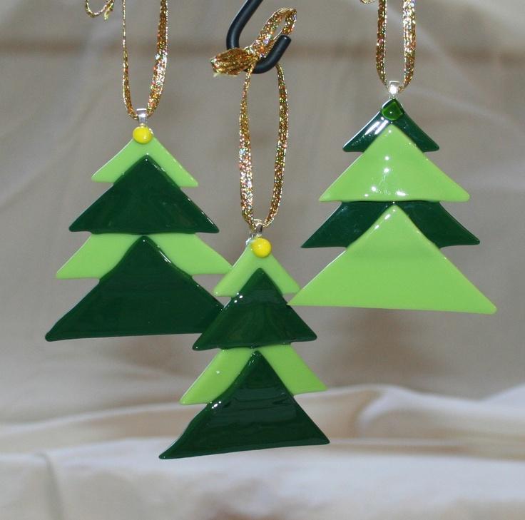 Fused Glass - Christmas tree ornaments