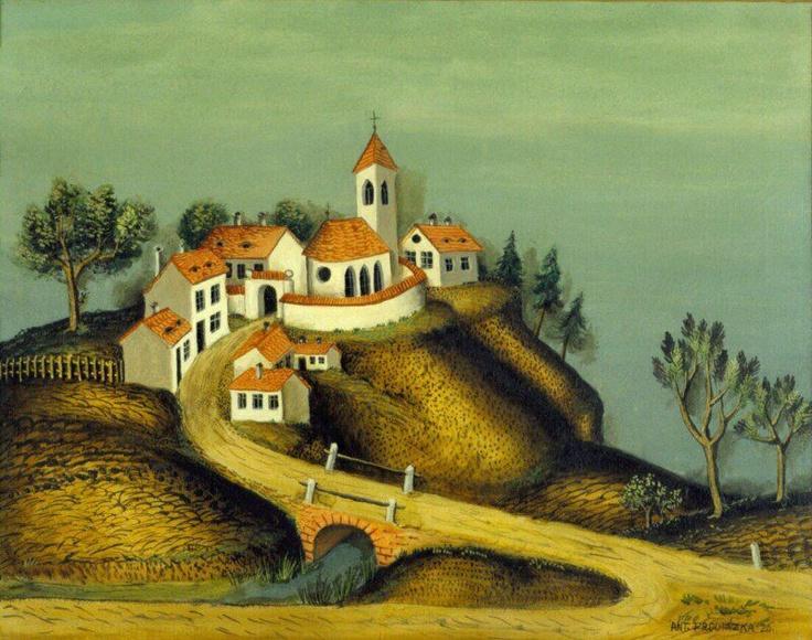 Antonin Prochazka - Mestecko / Country Town, 1926