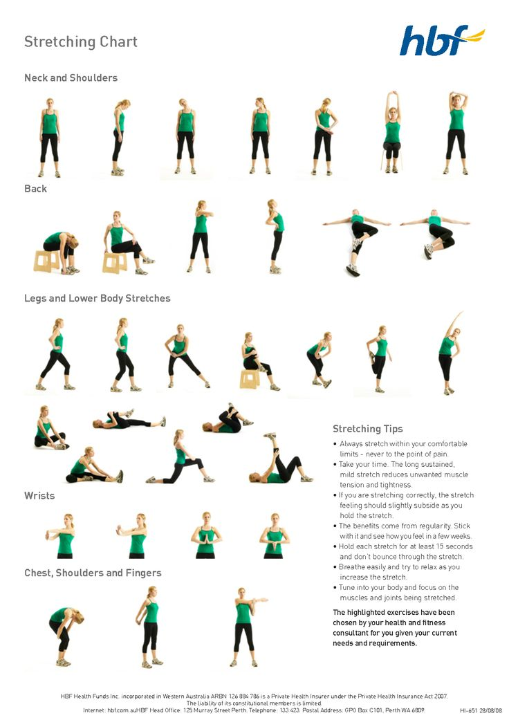 basic stretches diagram | workout tip 2 | FIT BIT