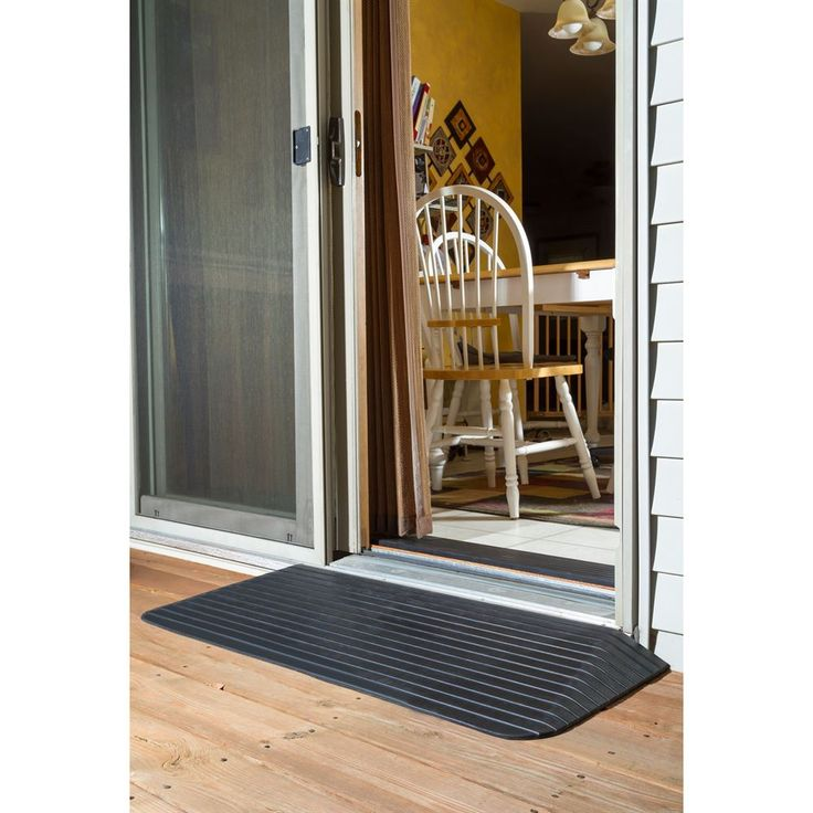 Silver spring rubber solid threshold ramp patio doors for Solid patio doors